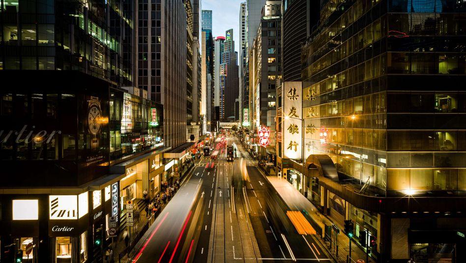 Geschäftsstraße in Hongkong: Wohlstand als Menschenrecht