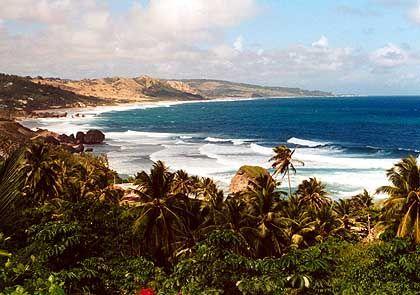 Vor der Küste Barbados' wird der Atlantik zur Karibik