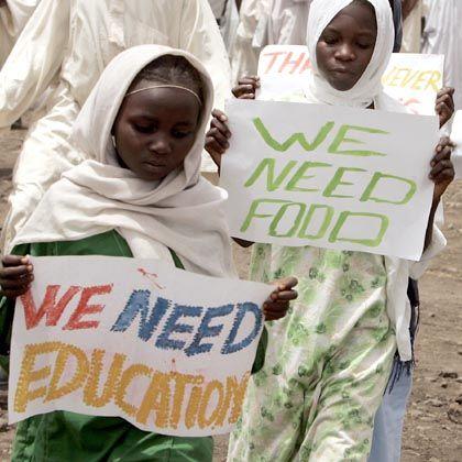 Sudanesische Kinder bei einer Unicef-Veranstaltung: Gegen die deutsche Abteilung des Kinderhilfswerks werden Vorwürfe erhoben.