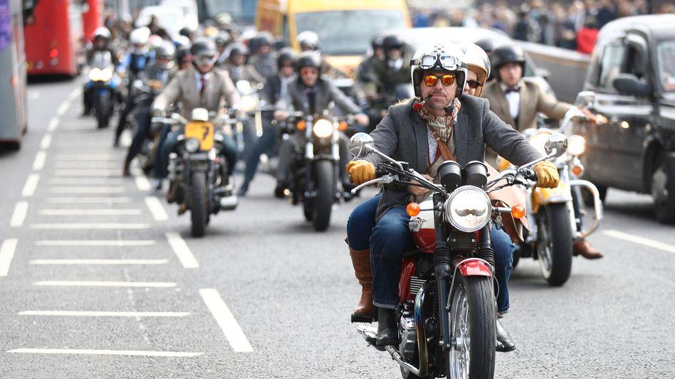 Britische Biker (Symbolbild)