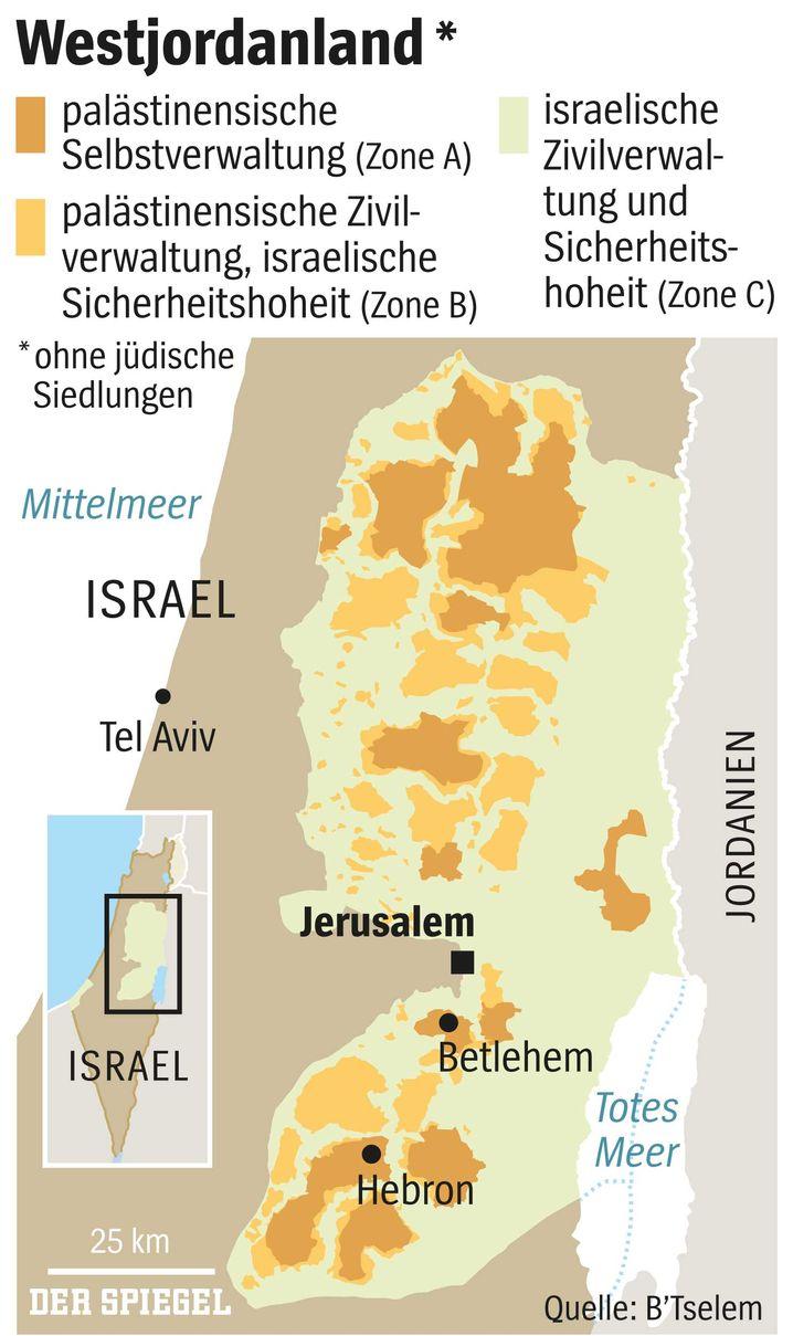 Westjordanland: Palästinensischer Flickenteppich