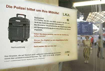 In einem solchen Koffer war die Splitterbombe versteckt