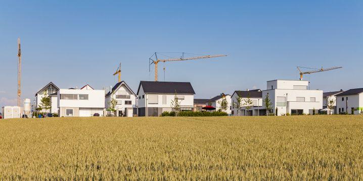 Bau von Einfamilienhäusern in Ulm 2018: Die Stadt betreibt eine intensive Bodenvorratspolitik, um günstigen Wohnraum entwickeln zu können
