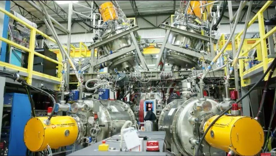 Teilchen-Strahler (gelb): Sie halten die Gaswolke in Form