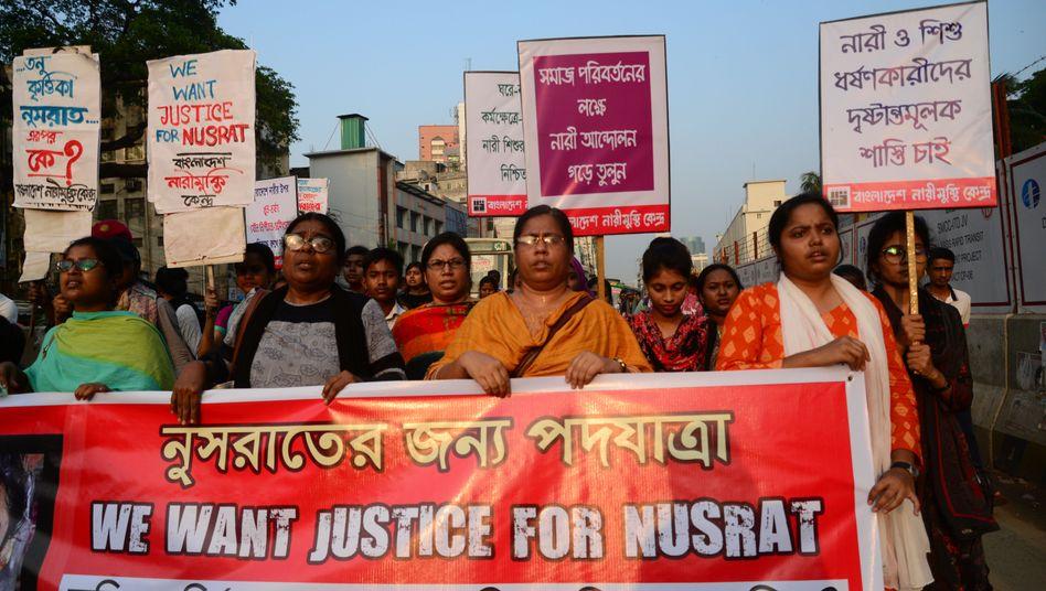 Proteste in Bangladesch nach dem Tod von Nusrat Jahan Rafi