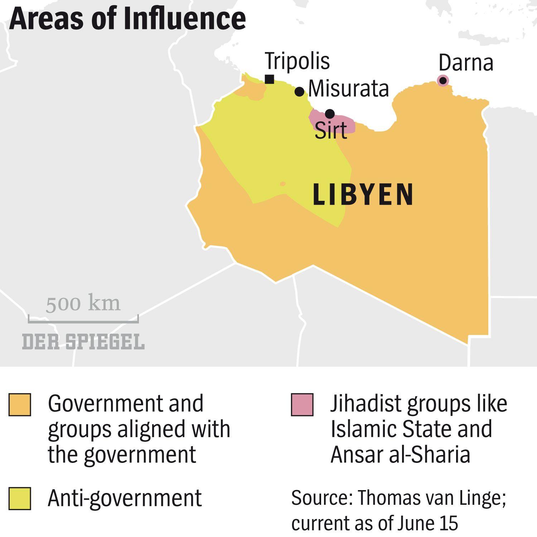 ENGLISH VERSION GRAFIK DER SPIEGEL 50/2015 Seite 86 - Areas of Influence - Libyen