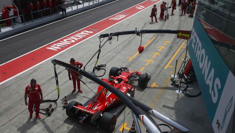 Sebastian Vettel in der Boxengasse