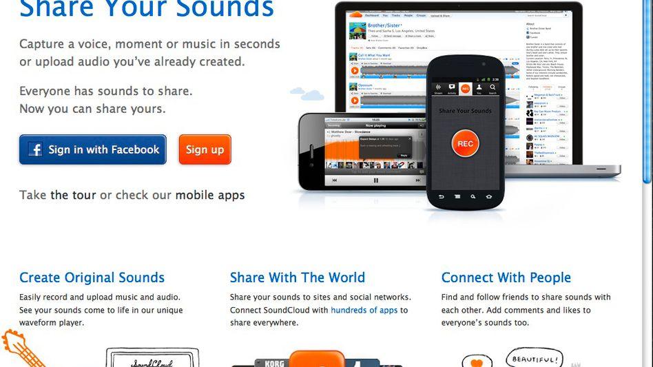 Soundcloud-Website: Angeblich 38,5 Millionen Euro für Berliner Start-up