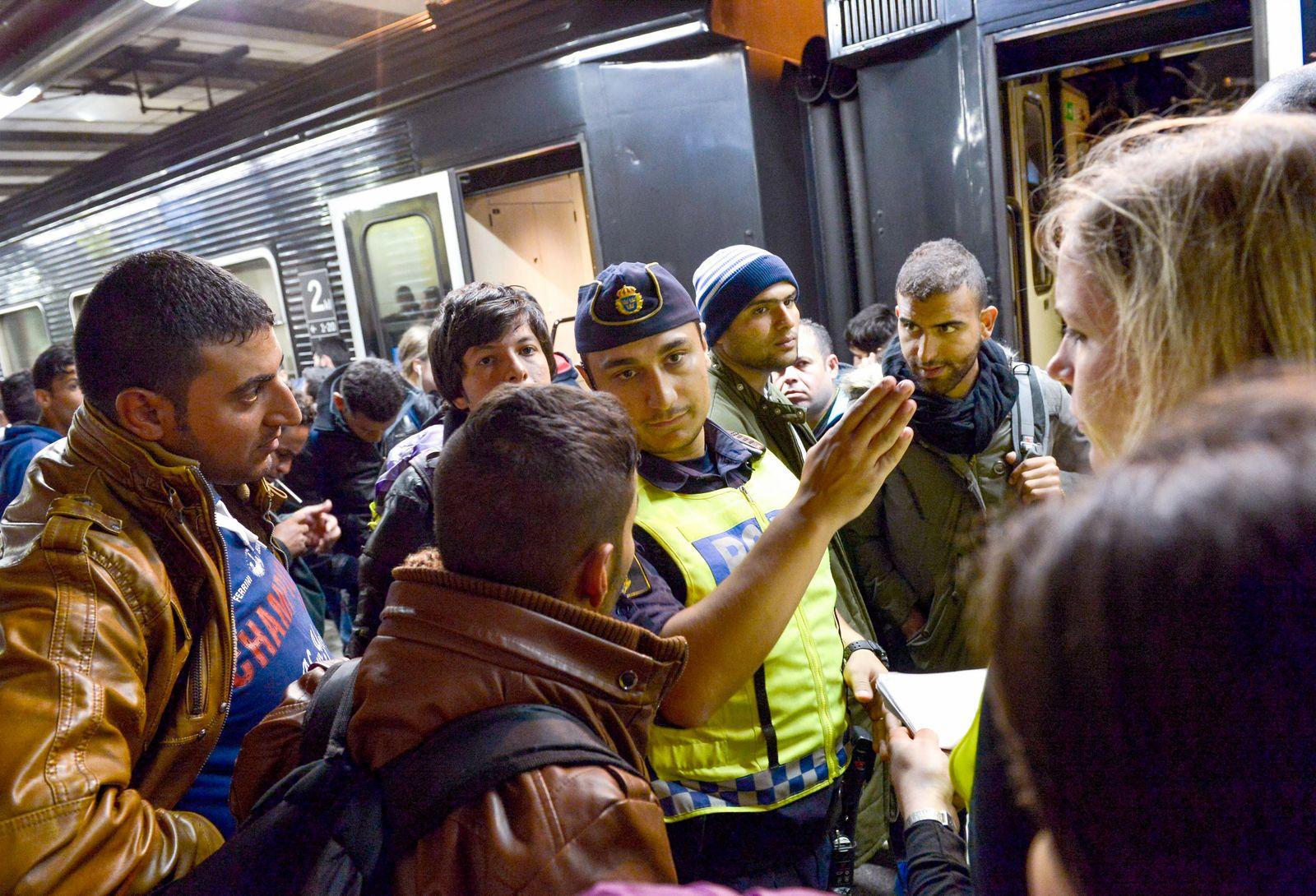 Flüchtlinge/ Bahnhof/ Stockholm/ Schweden