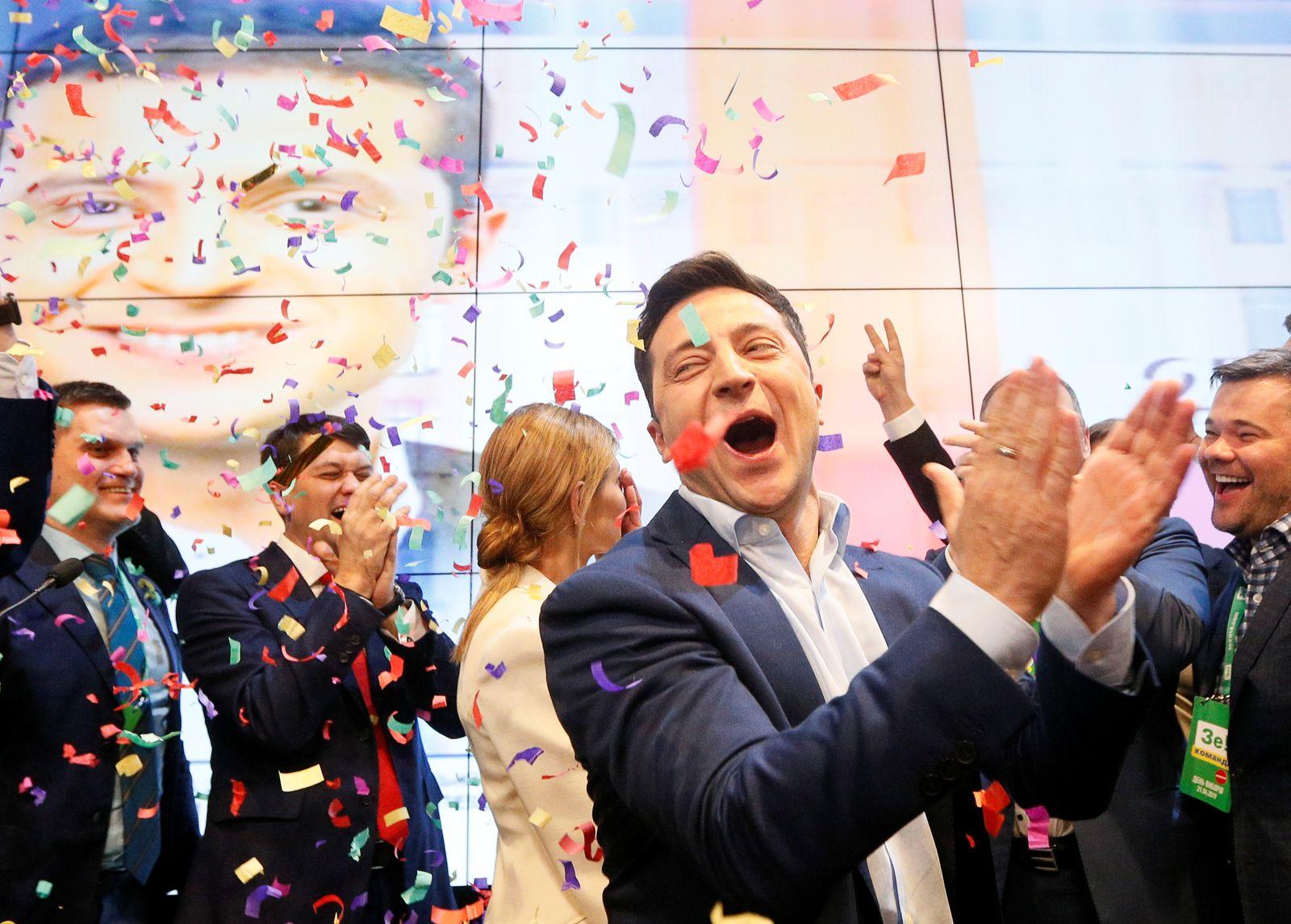 UKRAINE-ELECTION/ZELENSKIY-REAX