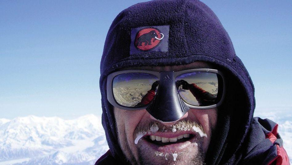 Kletterer Stangl auf dem Mount Logan in Kanada 2010