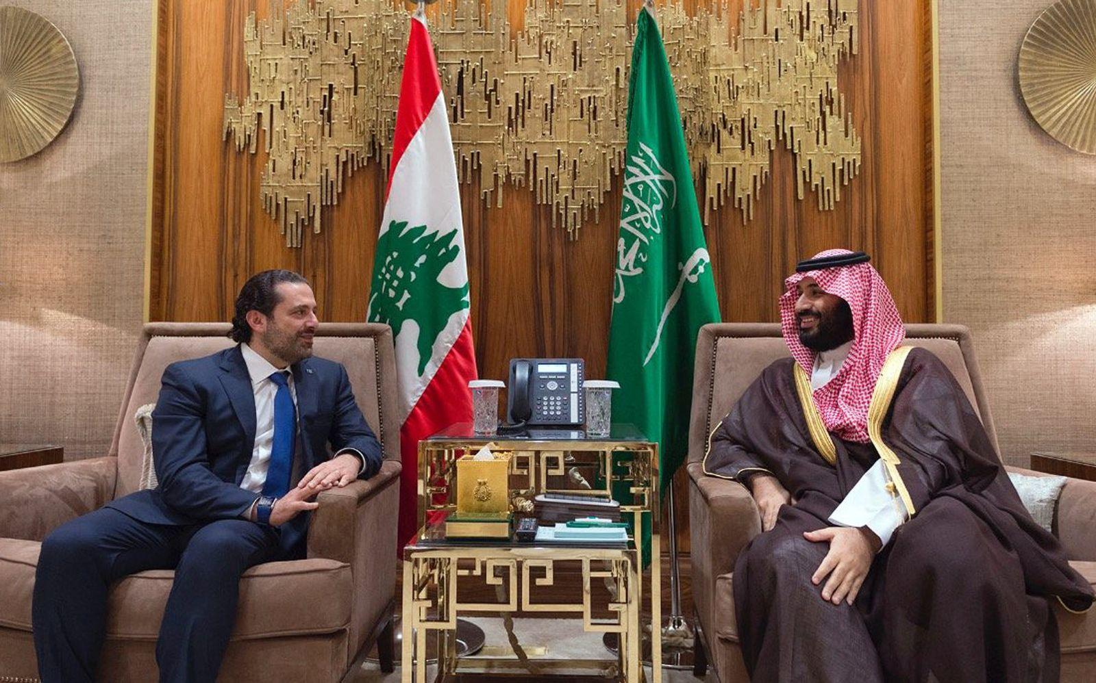 Mohammed bin Salman und Saad Hariri
