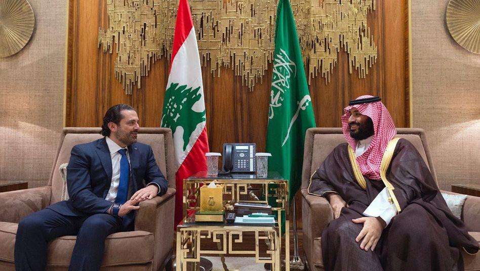 Mohammed bin Salman (rechts) und Saad Hariri in Riad