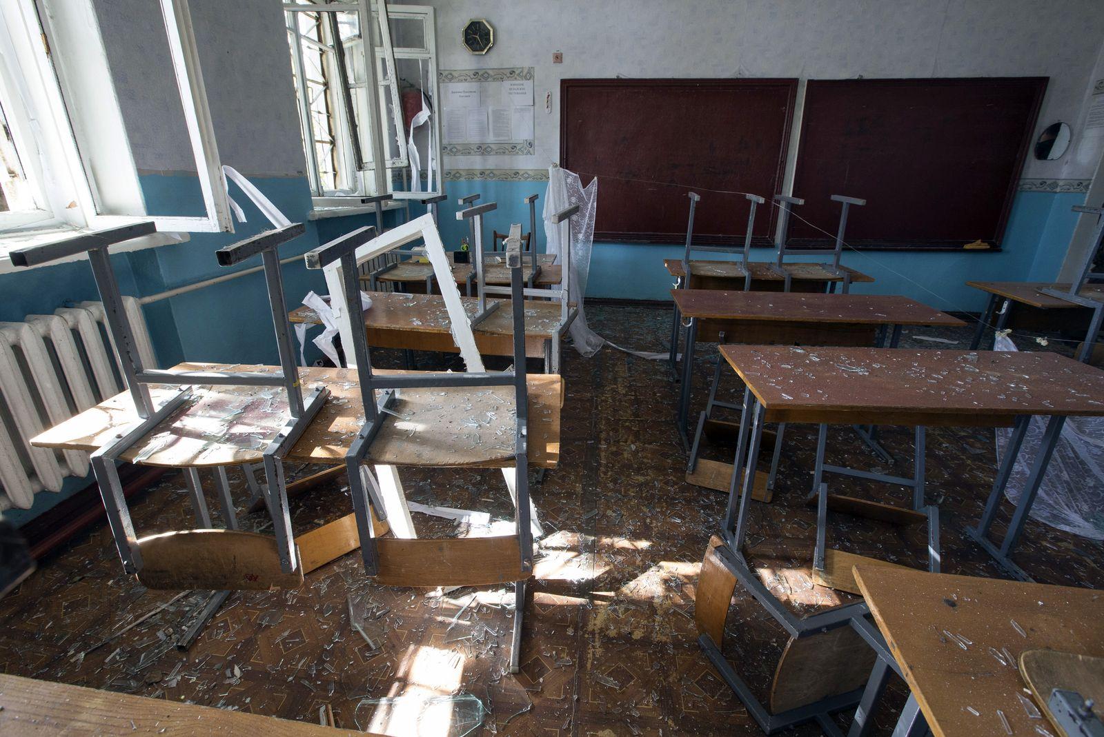 Ukraine/ Schule/ zerstört