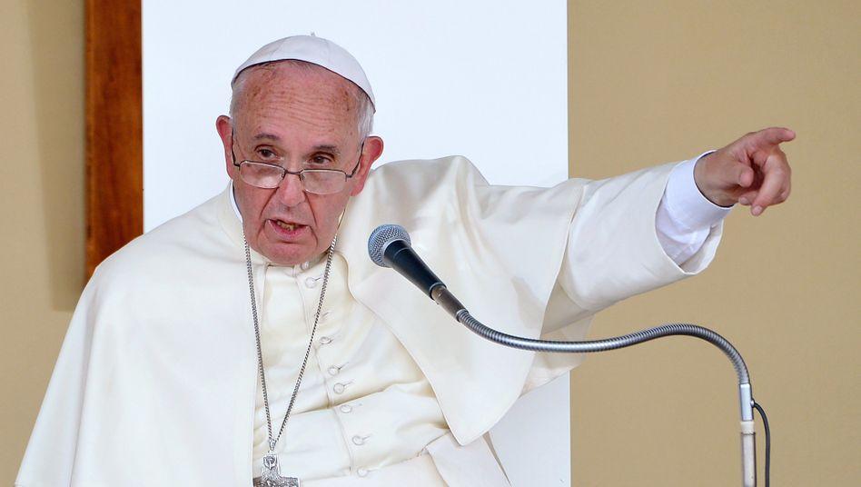 """Papst Franziskus: """"Geschäftsmänner, die sich als christlich bezeichnen und Waffen herstellen"""""""