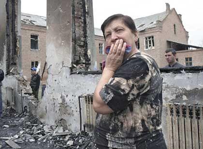 Trauernde in Beslan: Fremde im nicht ganz eigenen Land