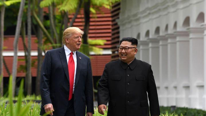 Trump und Kim in Singapur: Ein bisschen Frieden