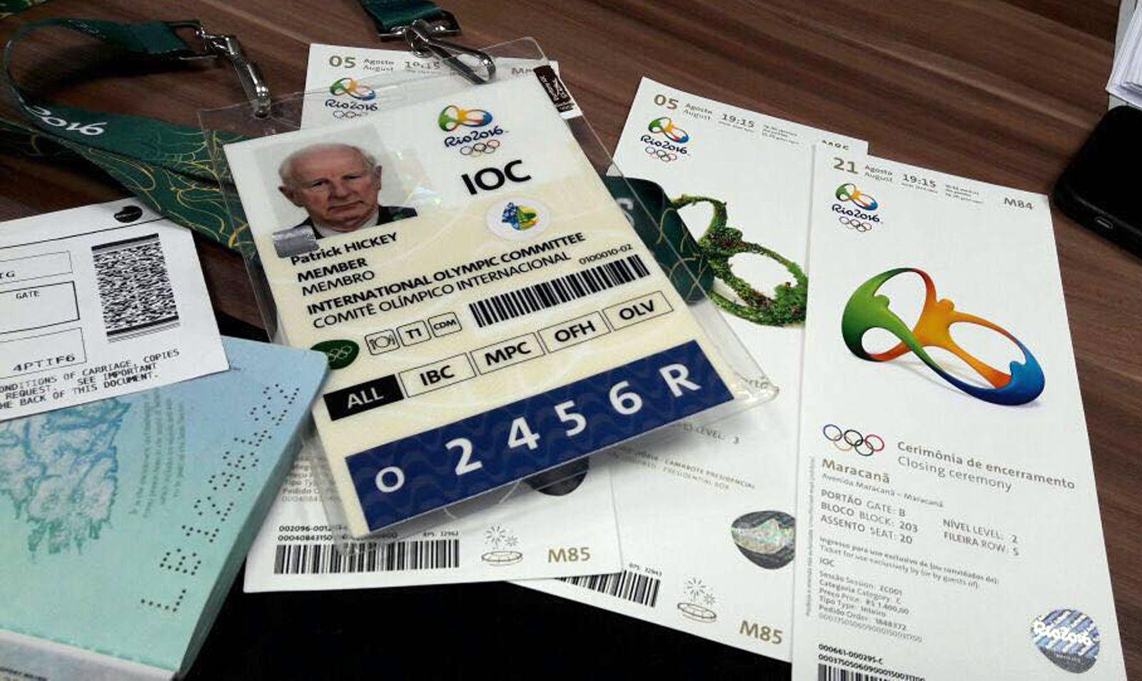 Rio Olympics Hickey Akkreditierung