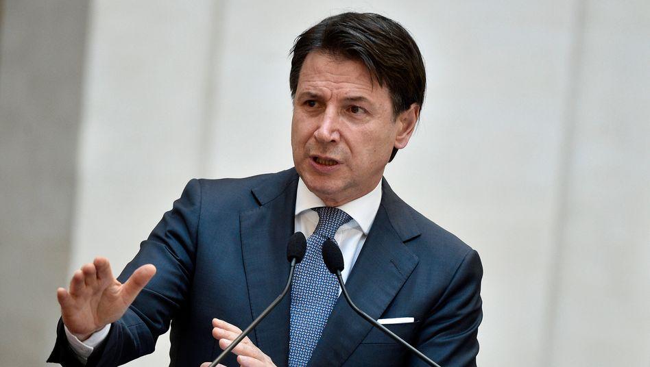 Giuseppe Conte im Juni 2020 – damals noch als Premier