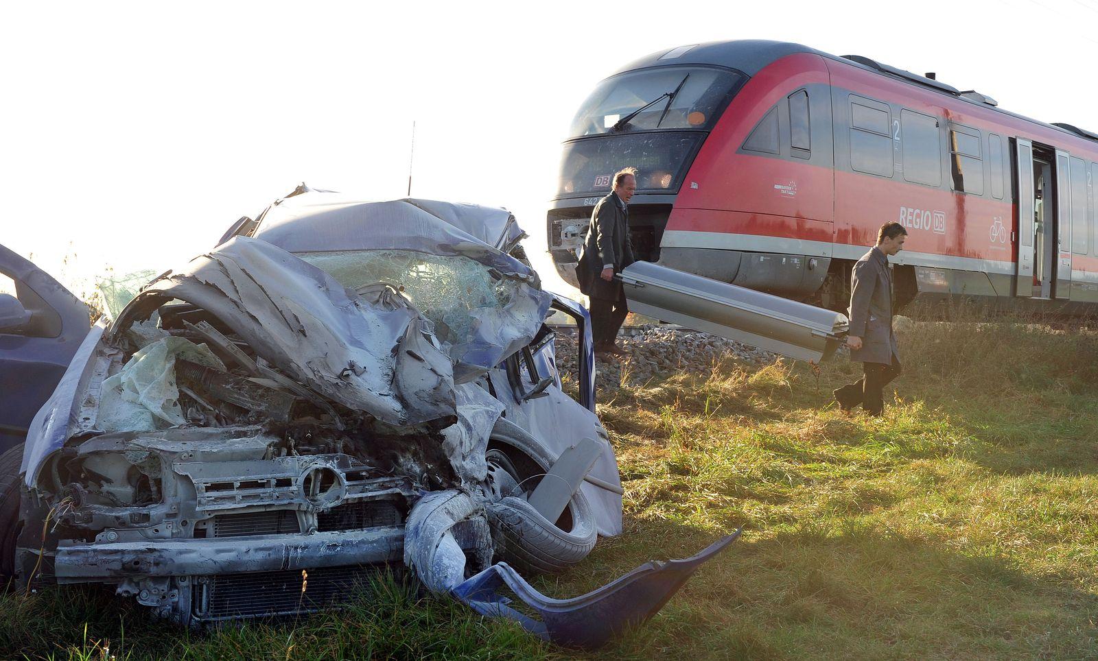 KaSP Unfall unbeschranktem Bahnübergang
