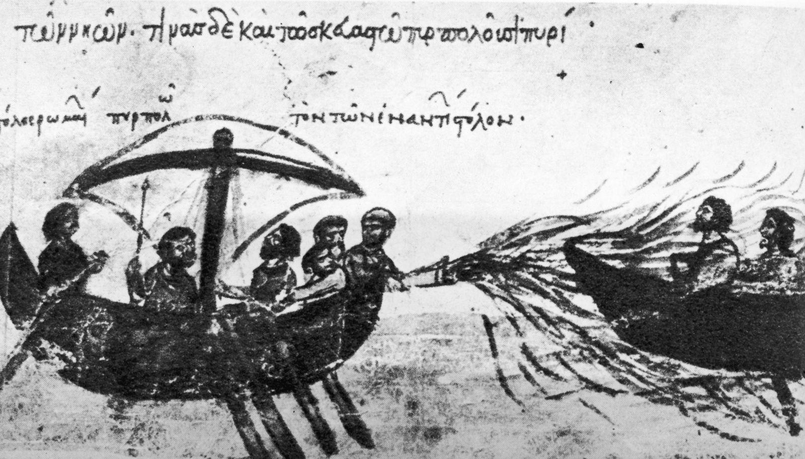 Byzanz / Griechisches Feuer