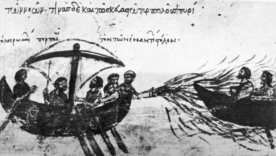 Wunderwaffe Seefeuer: Griechisches Feuer gegen Angreifer zur See