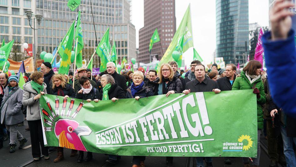 Die Grünen bei einer Demo in Berlin (Archiv)