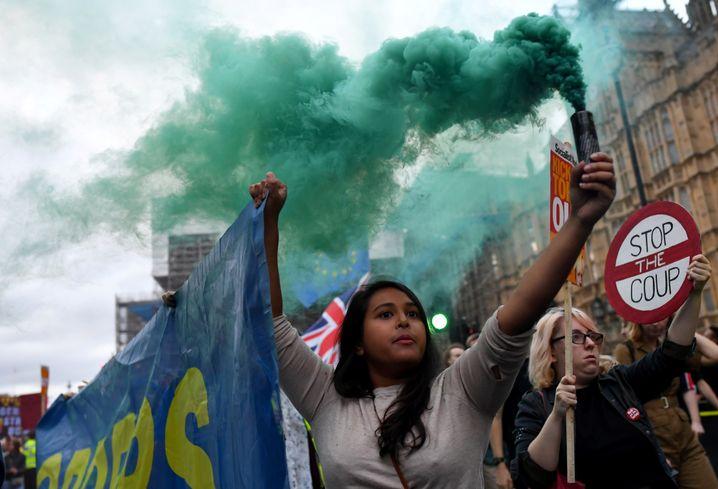 """Stop the Coup"" ist der Slogan der Brexit-Gegner"