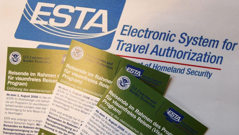 Merkblätter zur USA-Einreise: Viele Daten der Passagiere werden jahrelang gespeichert