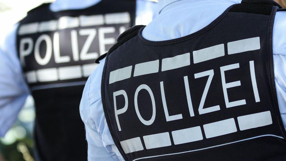 Polizisten beim Einsatz