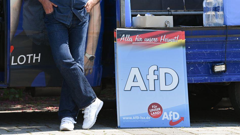 Wahlplakate der AfD in Sachsen-Anhalt