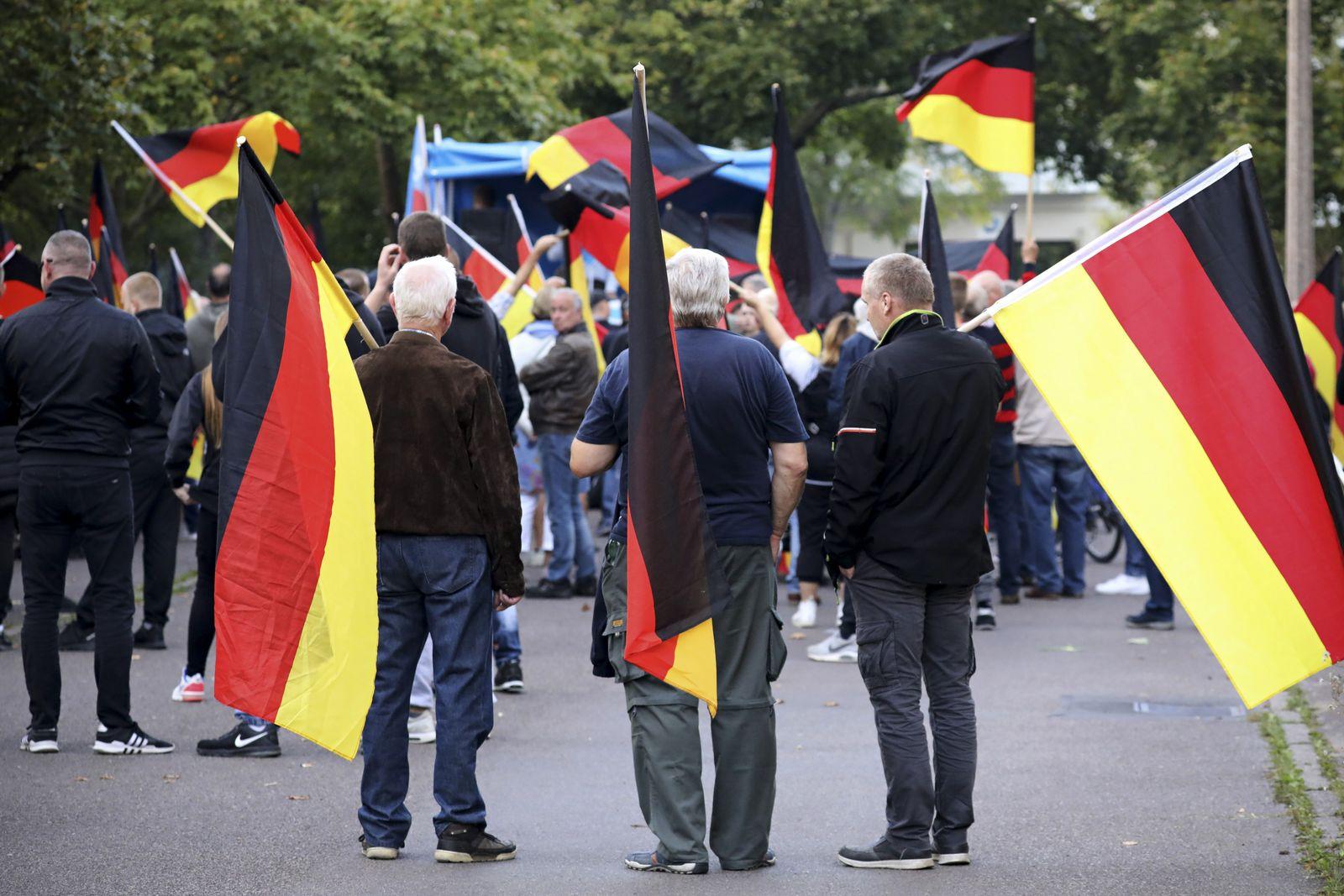 EINMALIGE VERWENDUNG AfD-Demonstration