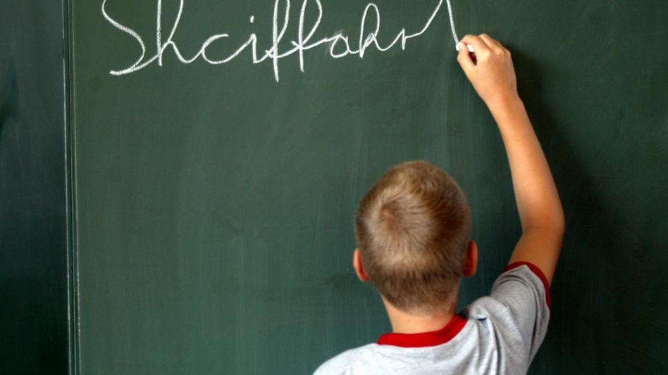 Auf dem Weg zum Schriftbild: Bislang lernen Kinder erst Druck- und dann Schreibschrift