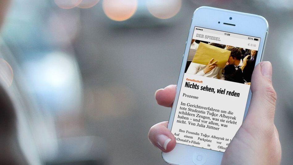 SPIEGEL-Text aus Blendle auf einem Smartphone: Bald startet der Digitalkiosk offiziell