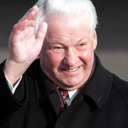 Former Russian President Boris Yeltsin died Monday at the age of 76.