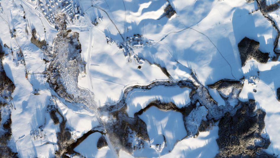 Norwegisches Unglücksgebiet nach dem Erdrutsch