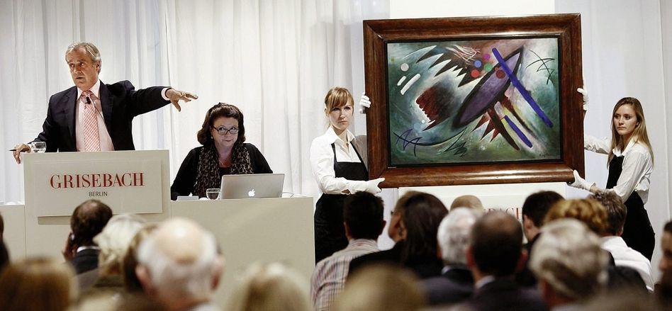 Kunstauktion in Berlin: Wer kann, investiert in vermeintlich sichere Werte