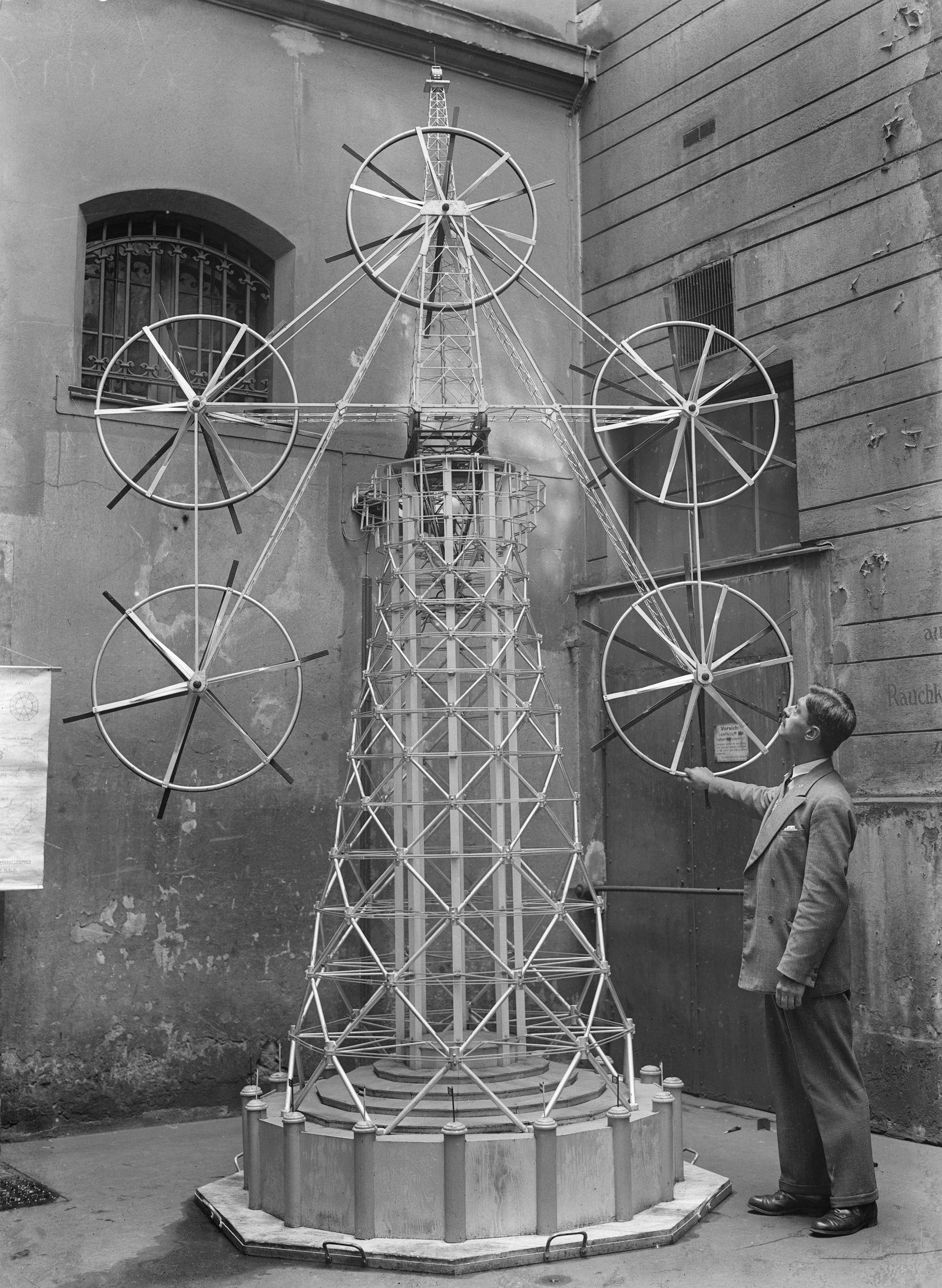 Windkraft Pioniere - Modell des Höhenwindkraftwerkes