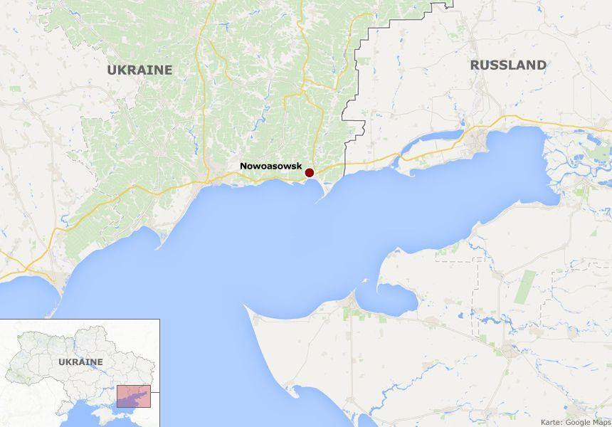 Karte - Ukraine - Nowoasowsk