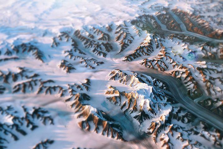 """Bild der """"Landsat 8""""-Daten, bei dem ein Höhenmodell verwendet wurde"""