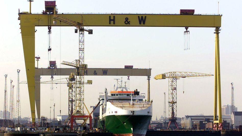 Harland and Wolff in Belfast: Einst Arbeitsplatz Zehntausender Menschen