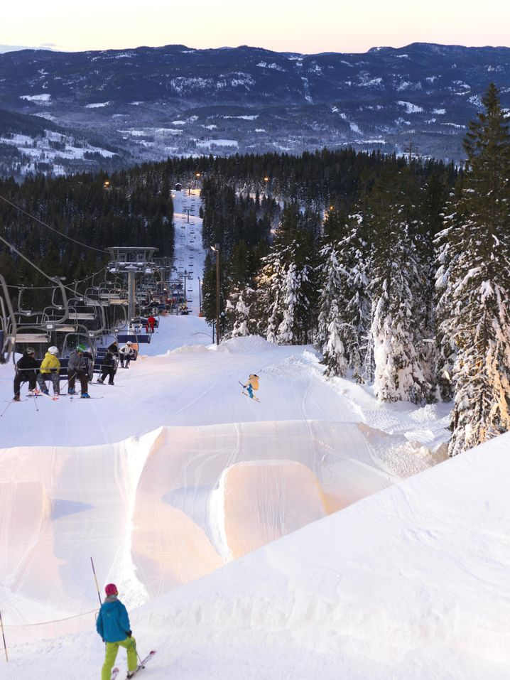 Funpark im Skigebiet Oslo Vinterpark