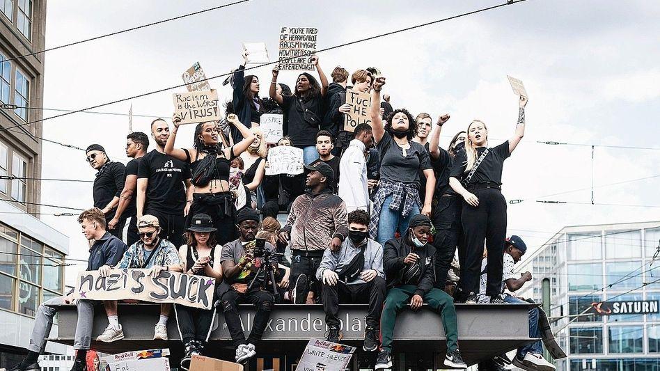 Anti-Rassismus-Demonstranten in Berlin
