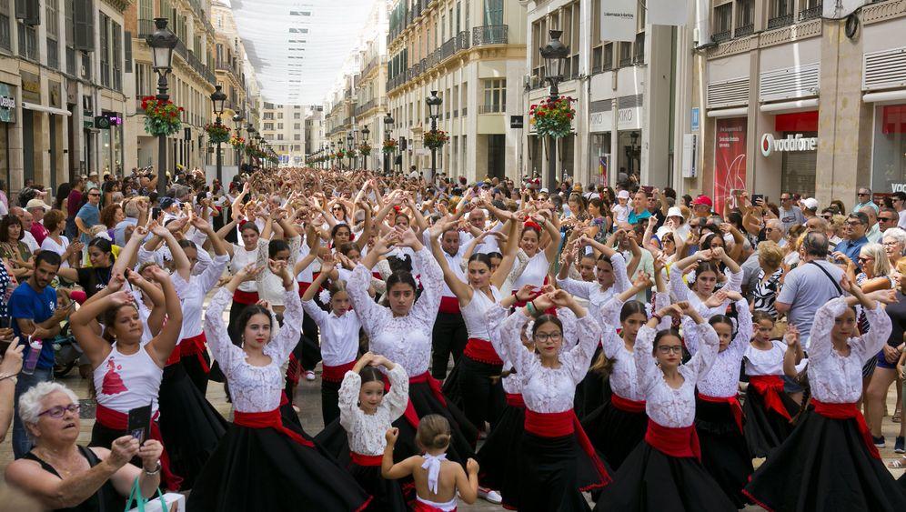Rekordversuch in Spanien: Der Flamenco-Flashmob