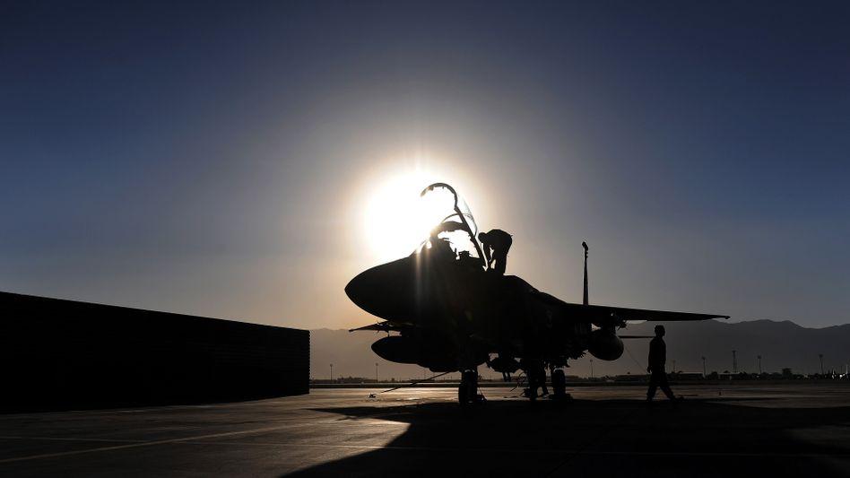 F-15-Kampfjet (Archivbild): Verfolgung aus der Luft