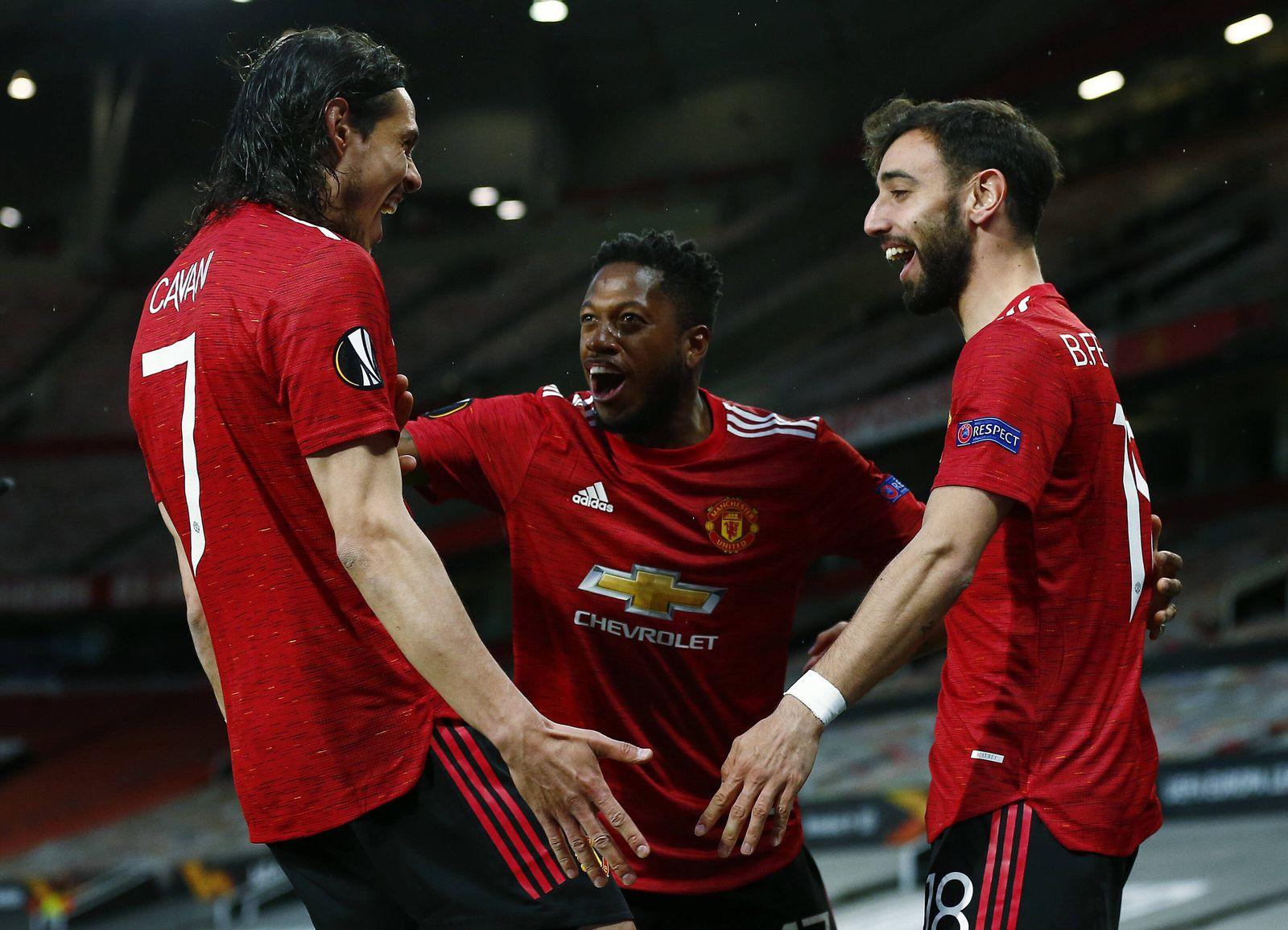 Mandatory Credit: Photo by Matt West/BPI/Shutterstock (11880469ac) Bruno Fernandes of Manchester United, ManU celebrates