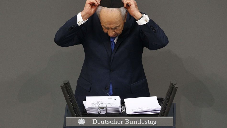 Israels Staatspräsident Peres: Totengebet im Bundestag