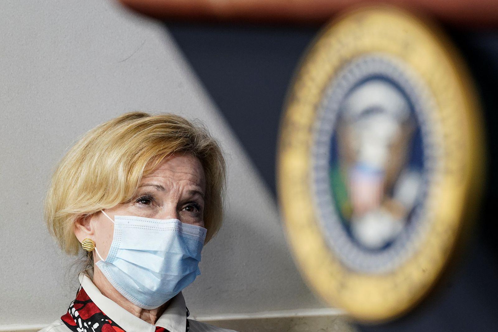 White House coronavirus response coordinator Birx attends coronavirus response task force briefing at the White House in Washington