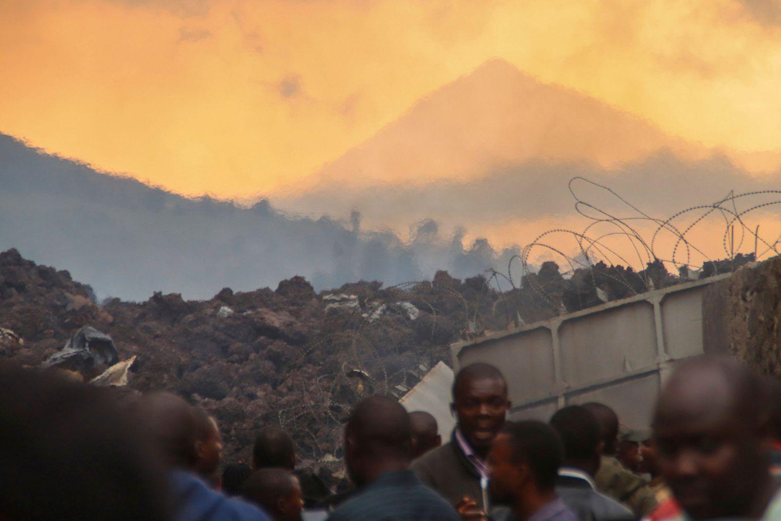 Vulkanausbruch im Osten Kongos löst Panik aus