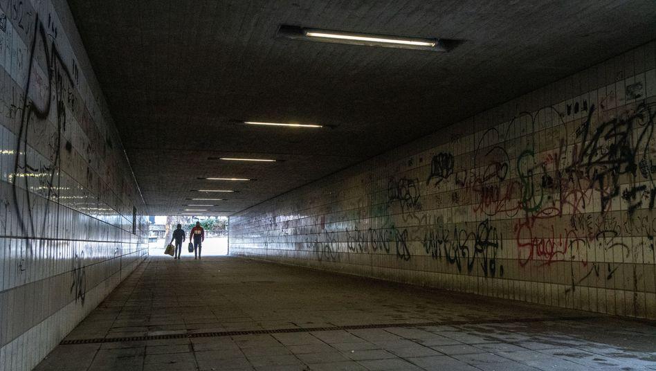 Passerelle am Bahnhof in Amberg
